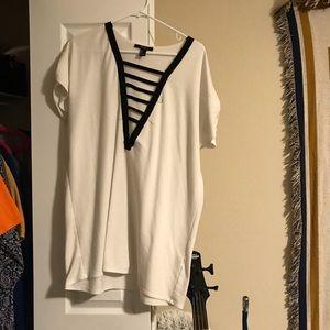TShirt Dress low V